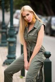 Adrienne ολόσωμη φόρμα χακί