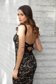 Candice φόρεμα μαύρο