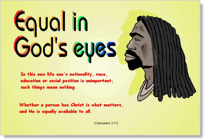 Equal in God's eyes