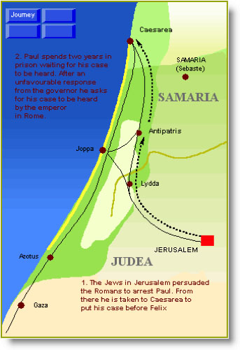 Jerusalem to Caesarea
