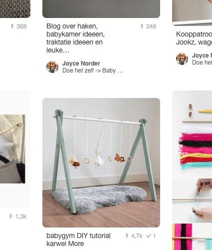 Doe het zelf projecten voor de baby