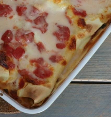 Recept   Lasagne Salami & Mozzarella