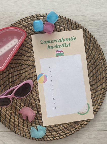 Zomer (vakantie) bucket list! + GRATIS printables