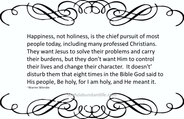 Wiersbe Holiness