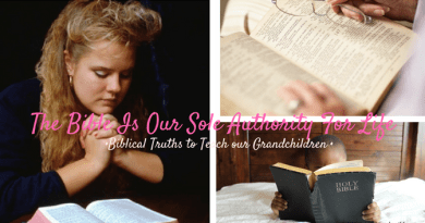 Teach your Children and Grandchildren that the Bible should be their sole authority for life