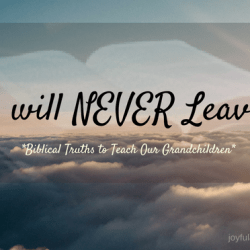 Jesus will never leave you and never disappoint you
