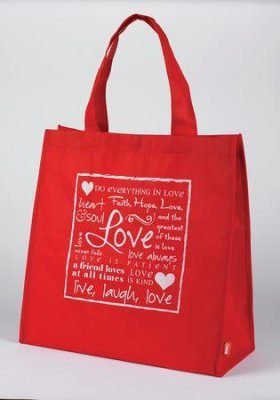 Red Tote Bag Valentine's Day