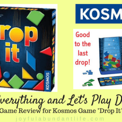 Drop Everythig and Let's Play Drop It Review for Kosmos Game