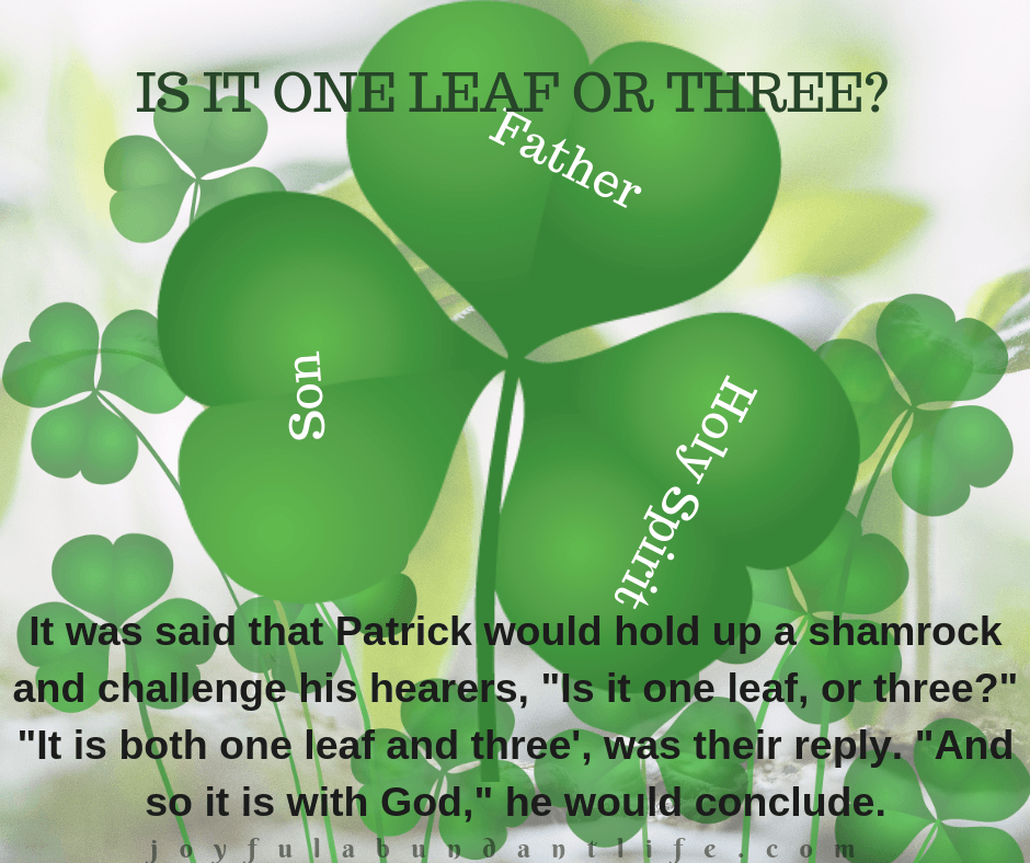 St. Patrick Quotes Is it one leaf or three – JOYFUL ABUNDANT ...