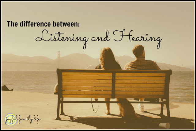 The difference between Hearing and Listening
