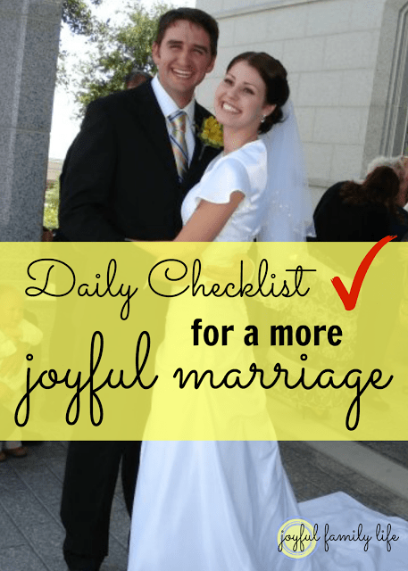 Daily Checklist for a Joyful Marriage