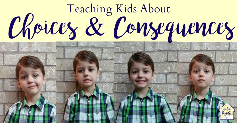 Teach children about choices and consequences
