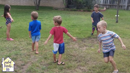 Octopus Tag, a running game that kids will love. See more about this Summer Boredom Busters on the Joyful Family Life blog.
