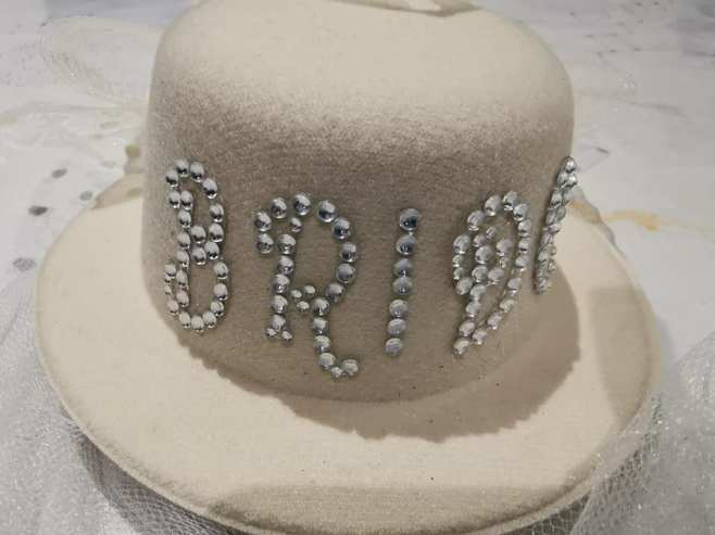 bridal shower hat
