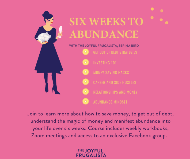 Poster about Six Weeks to Abundance