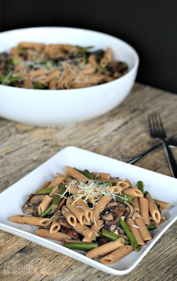 Asparagus & Mushroom Pasta 1