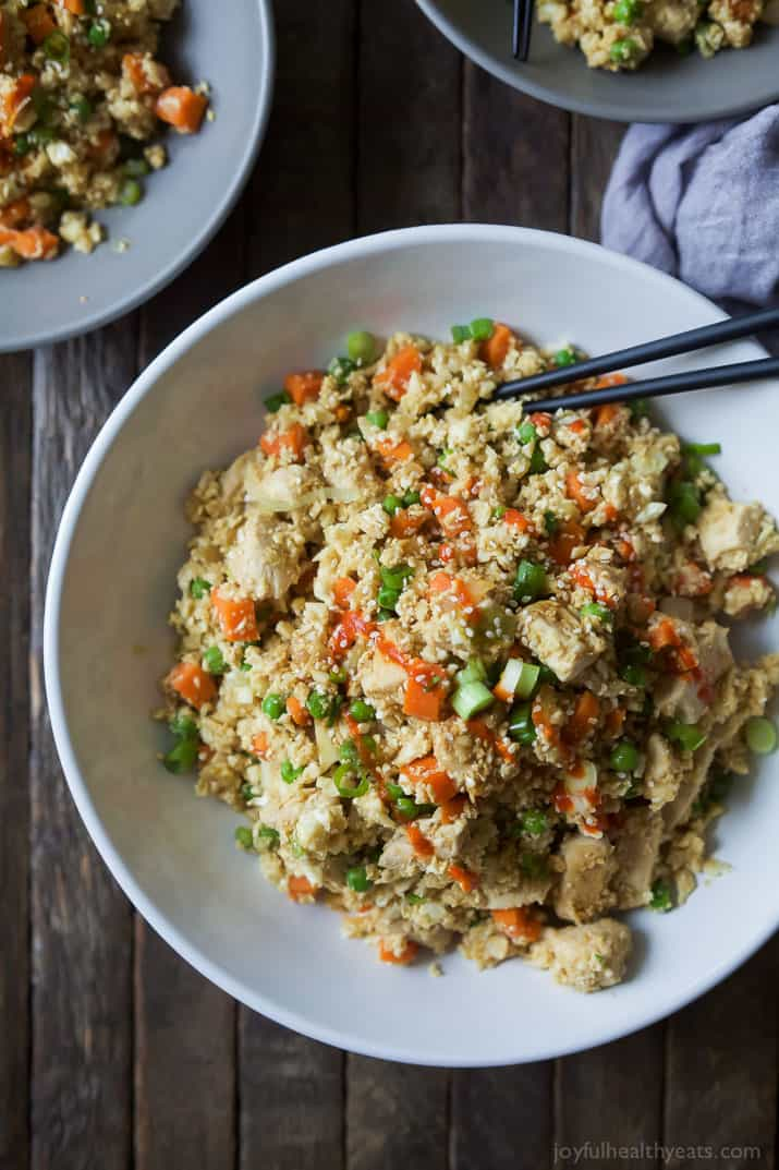 15 - Minute Cauliflower Chicken Fried Rice