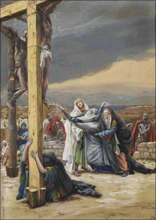 The Sorrowful Mother Mater Dolorosa  Watching Holy Week Unfold with paintings by James Tissot