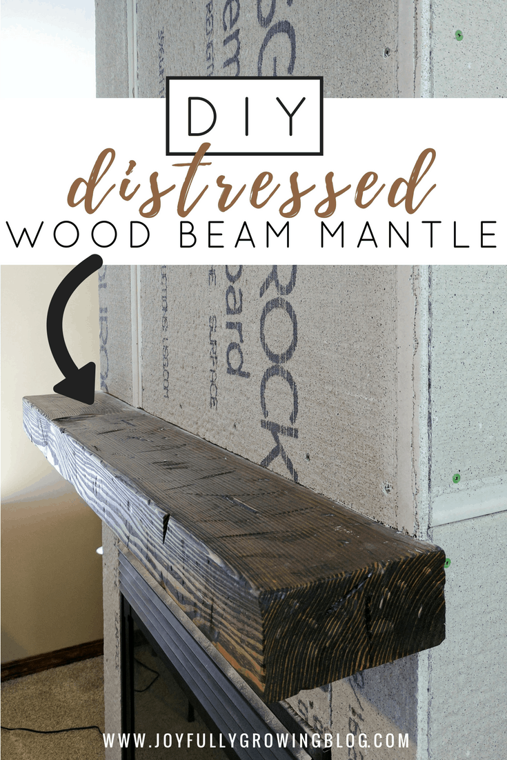How to Create a DIY Distressed Wood Beam Mantle