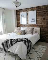 DIY Wood Plank Accent Wall - Joyfully Growing