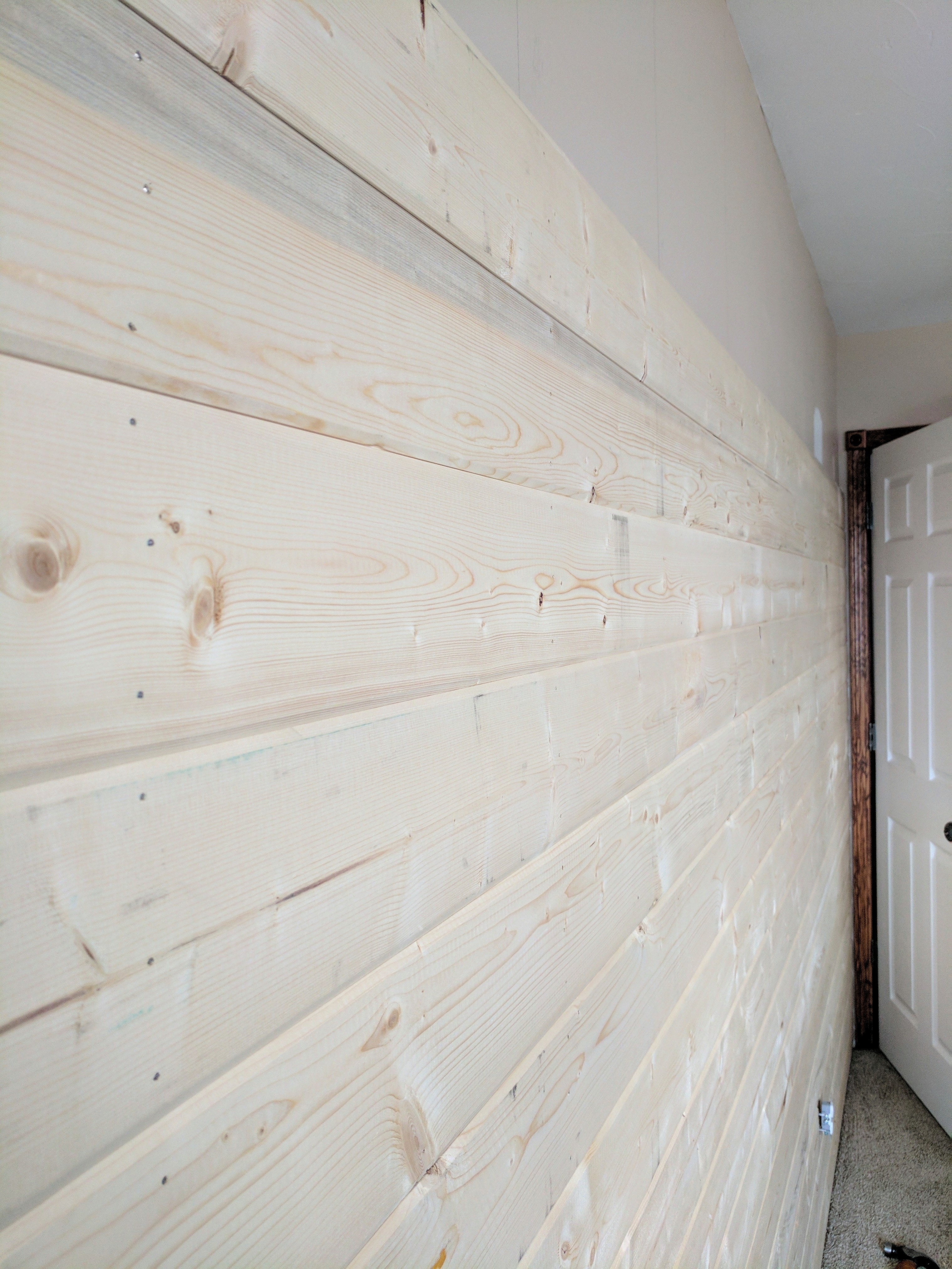 A DIY Wood Plank Accent Wall