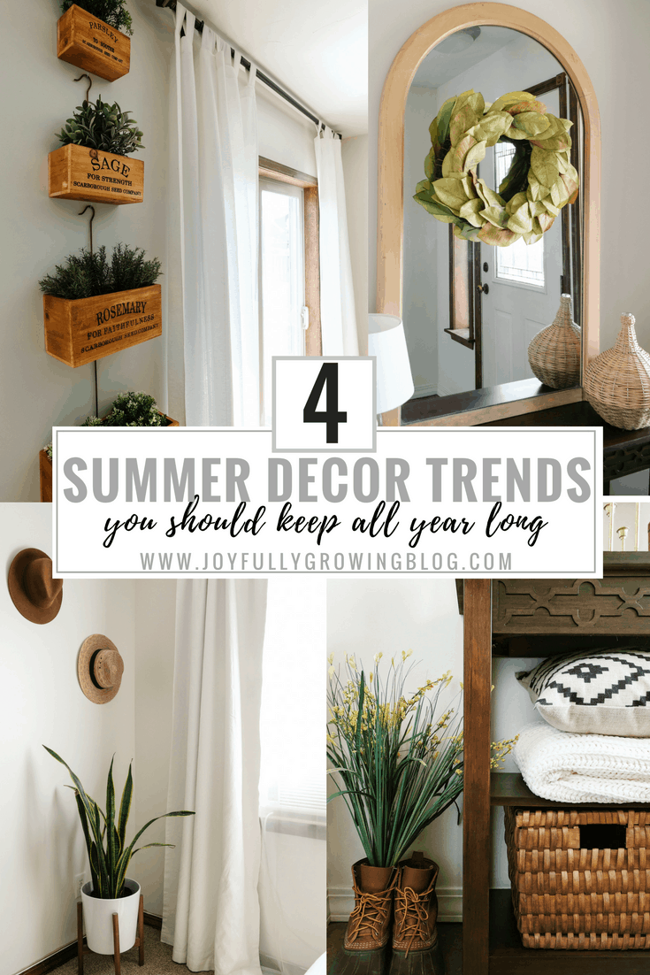 4 Summer Decor Trends You Should Keep All Year