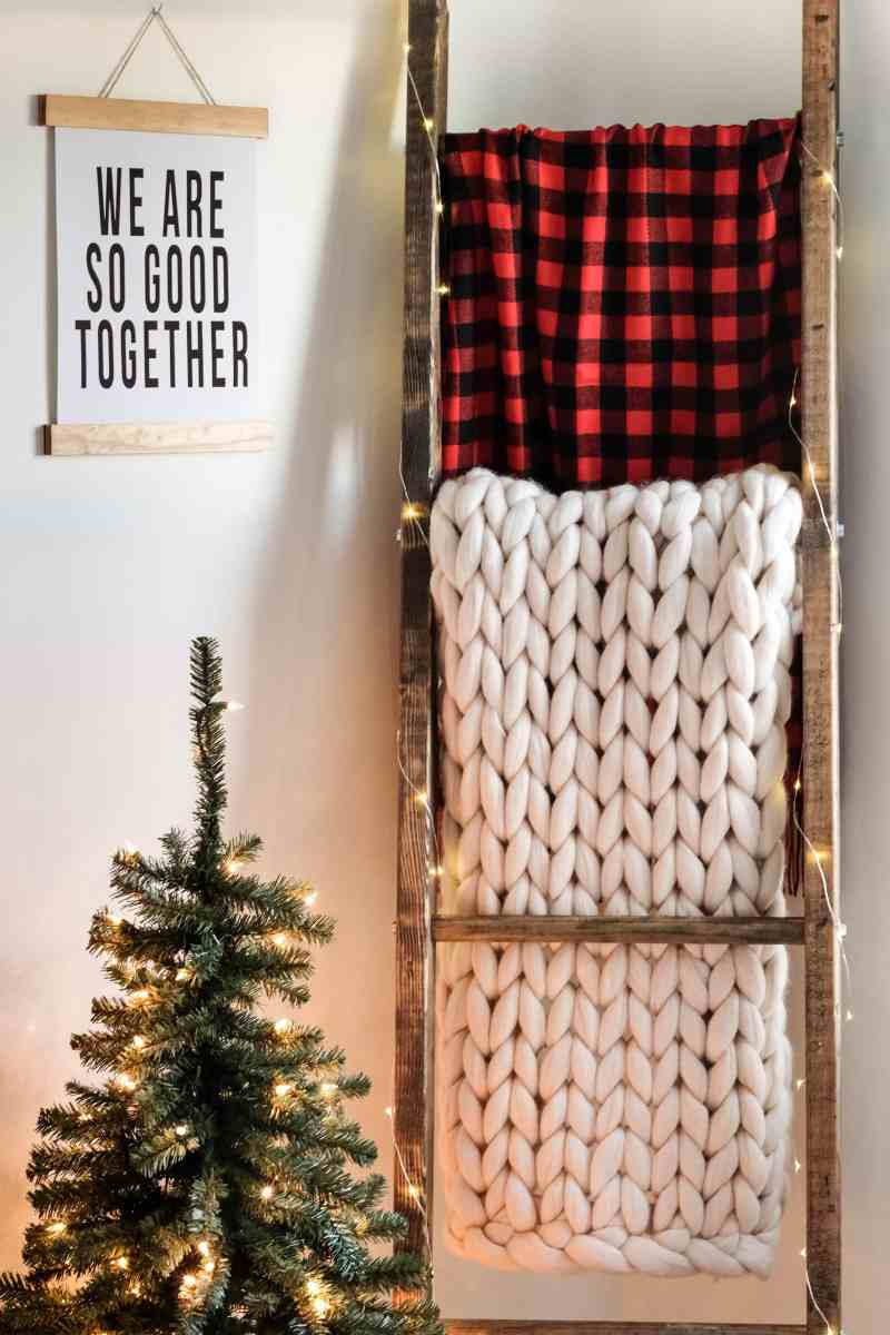 DIY Blanket Ladder + How to Style It for the Holidays