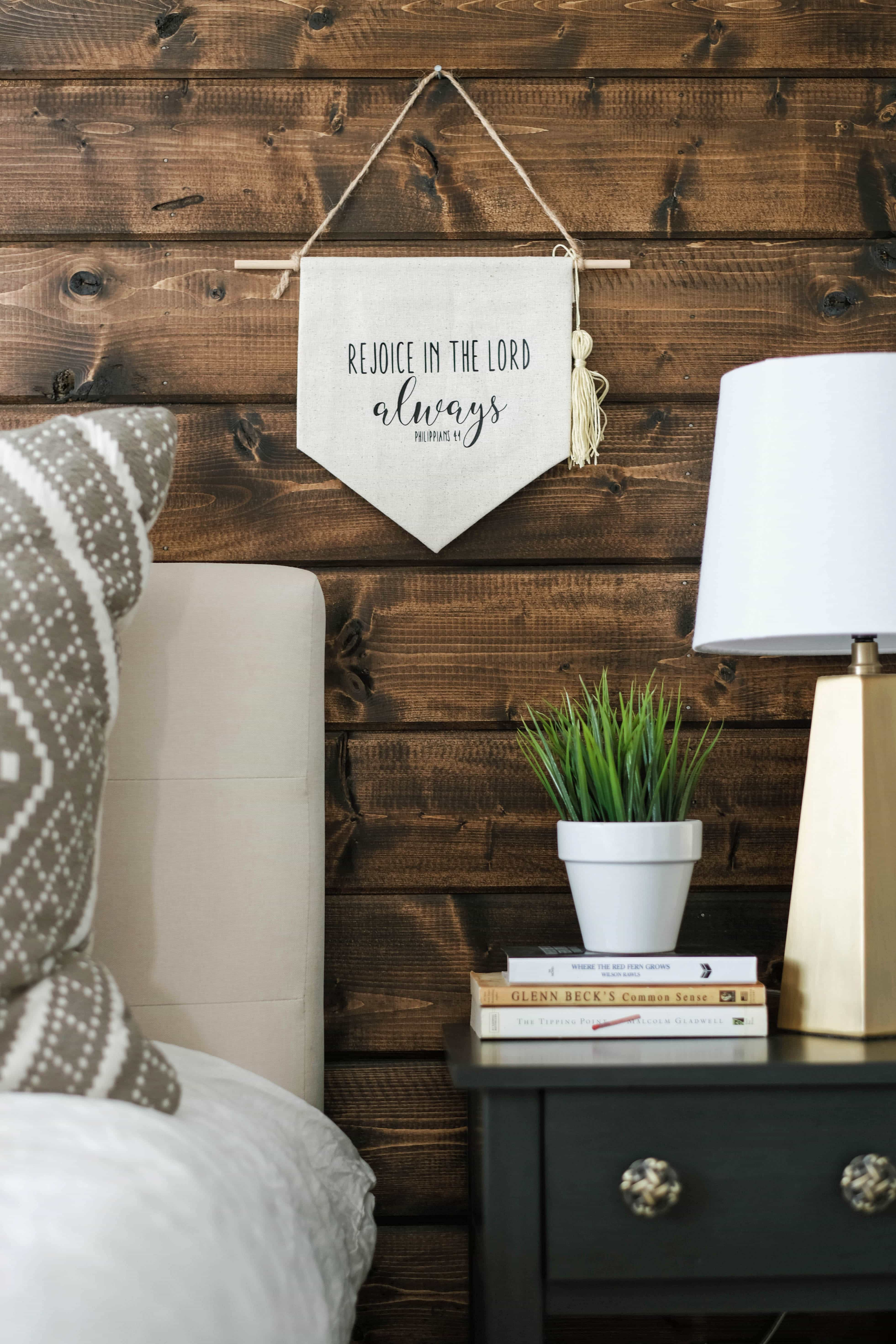 A Modern Rustic Bedroom   See how to blend two styles to create a modern rustic bedroom that is oh so cozy   Joyfully Growing Blog
