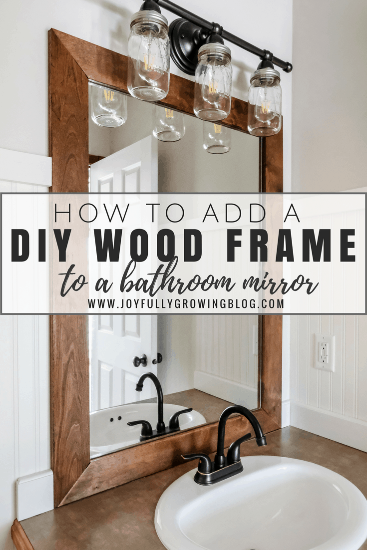 How to Add a DIY Wood Frame to a Bathroom Mirror