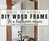 how to make frame for bathroom mirror