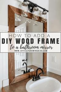 How to Add a DIY Wood Frame to a Bathroom Mirror