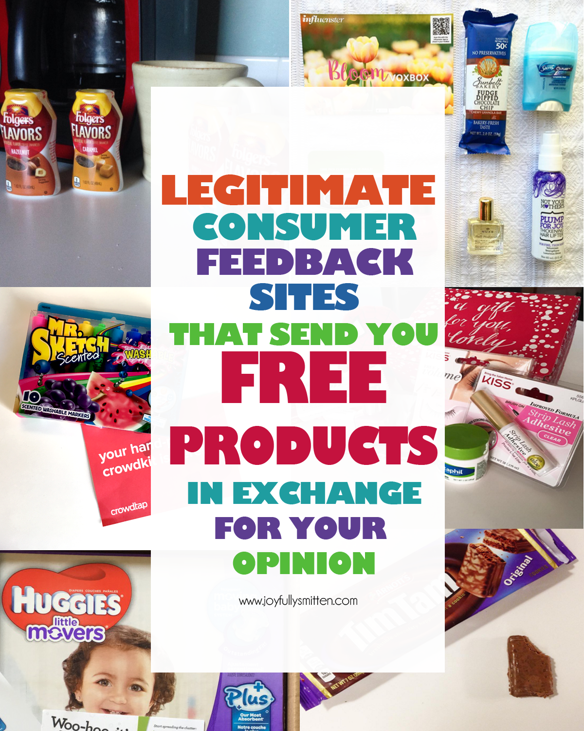 A list of actual places to get free products in exchange for your honest review. A full list of places this blogger has used herself with real photos of the items she's received!
