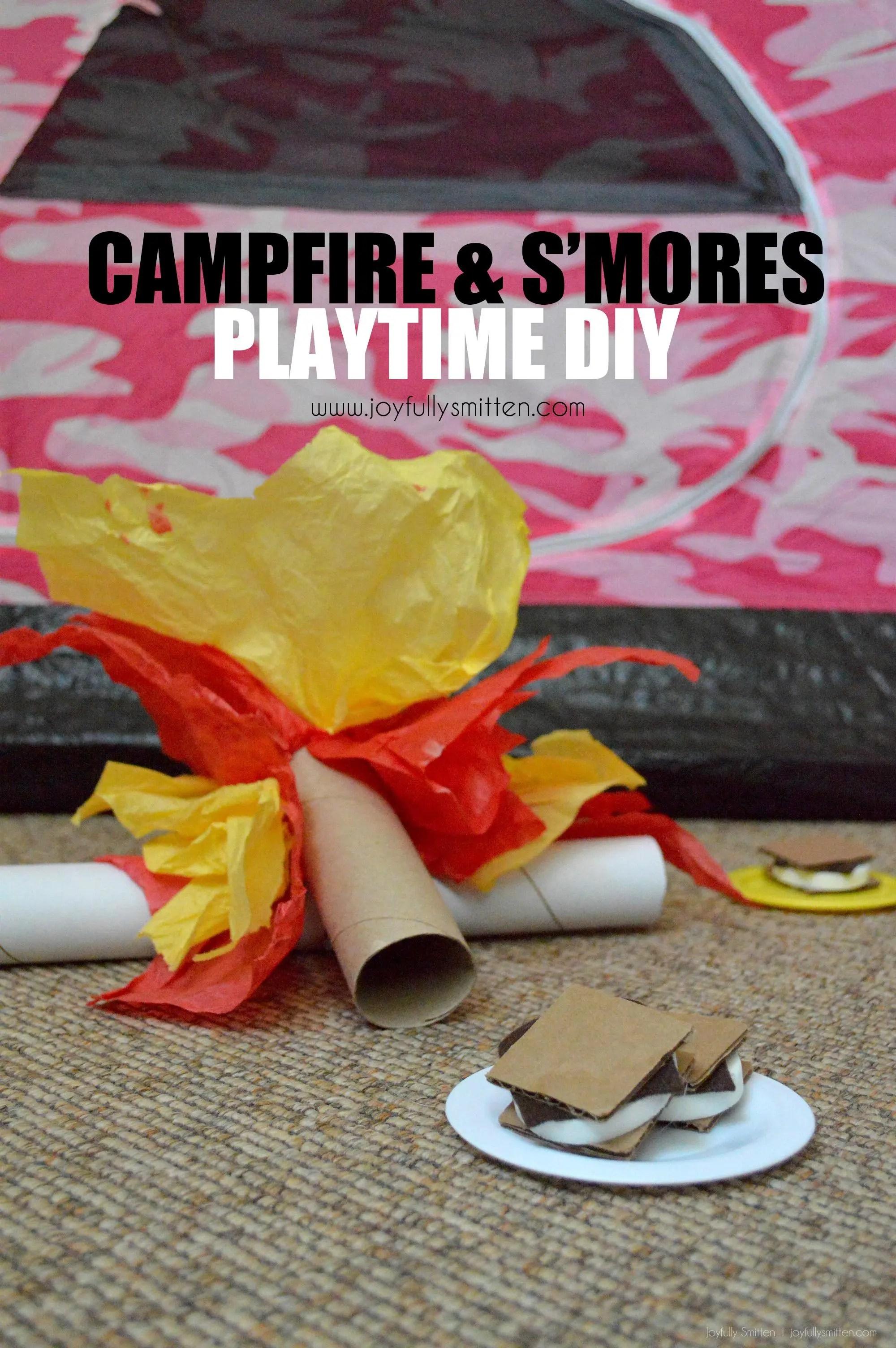 KIDS CAMPFIRE AND SMORES DIY