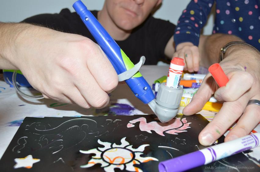 Create your own Holiday Wrapping Paper - or wrapping paper any time of year! - with the help of Crayola & their Air Marker Sprayer!