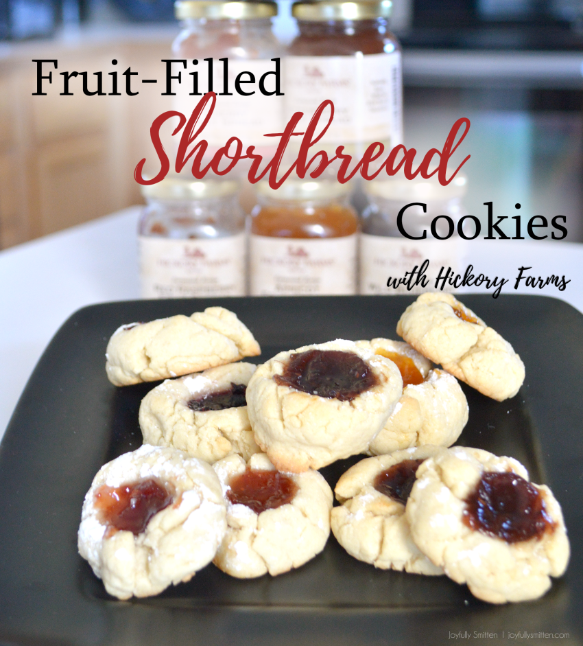 Low Stress Holiday Cookies!!! Fruit Filled Shortbread Cookies Recipe. So delicious. A perfect balance of sweet and crunchy.