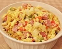 Veggie and Ham Egg Scramble