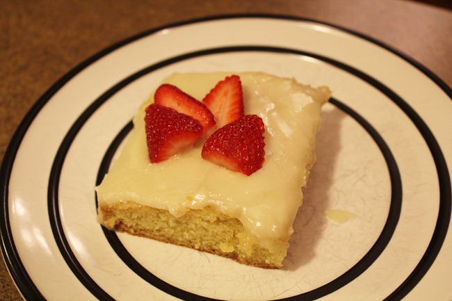Sour Cream Sheet Cake