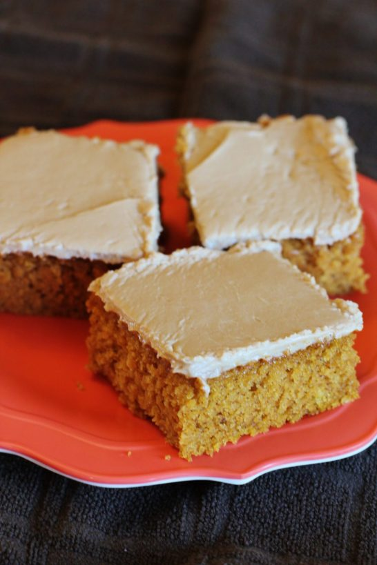 Pumpkin Spice Bars with Maple Frosting
