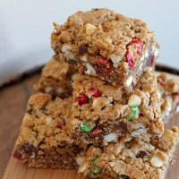 Monster Cookie Bars With Almond Butter