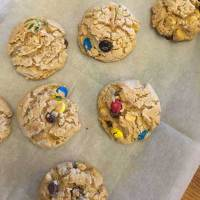 These cookies are wonderful and full of peanut butter flavor. Add in your favorite M&Ms, chocolate chips, butterscotch chips and oats. Heavenly, absolutely heavenly!