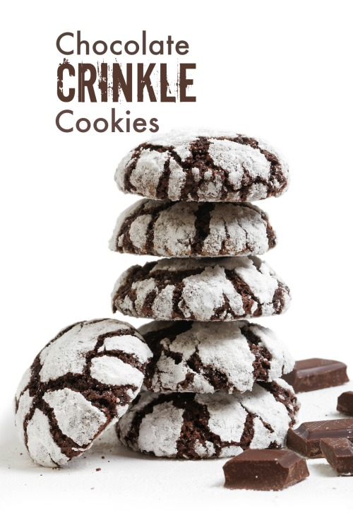 12 Days of Christmas Cookies: Chocolate Crinkle Cookies