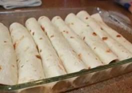Enchiladas in pan