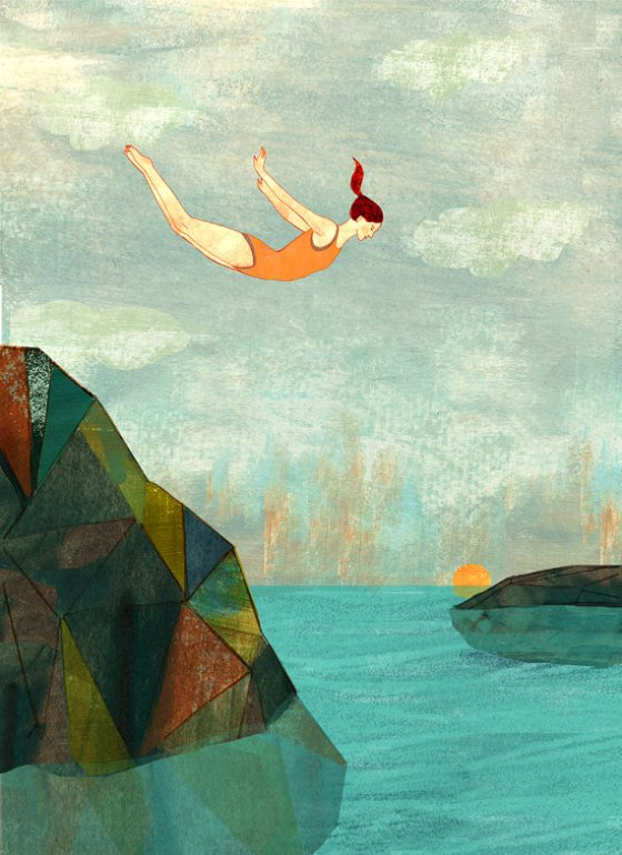 Summer Swim By Aimee Sicuro {Check Out More Of Her Amazing Work At Etsy}