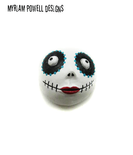 Day of the Dead - Dia de los muertos - Halloween Magnet - Halloween Decor - Myriam Powell