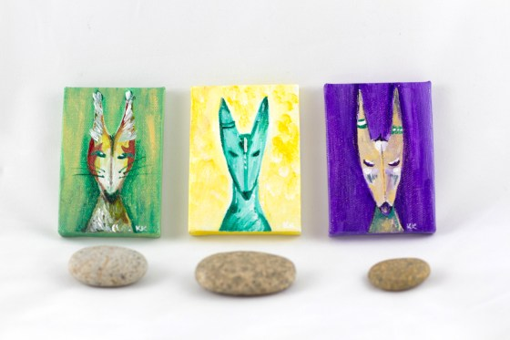 Three Joyling Mini Paintings by Kimberly Kling