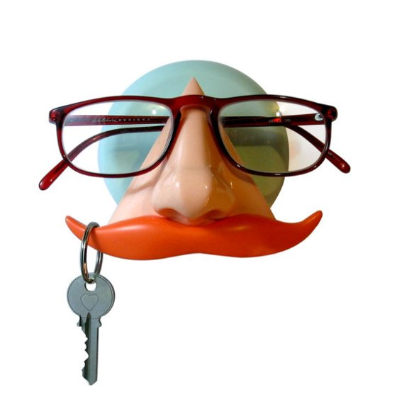 Mustache Key and Sunglass Holder by ArtAKimbo