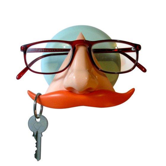 Mustache Key and Sunglass Holder by ArtAKimbo