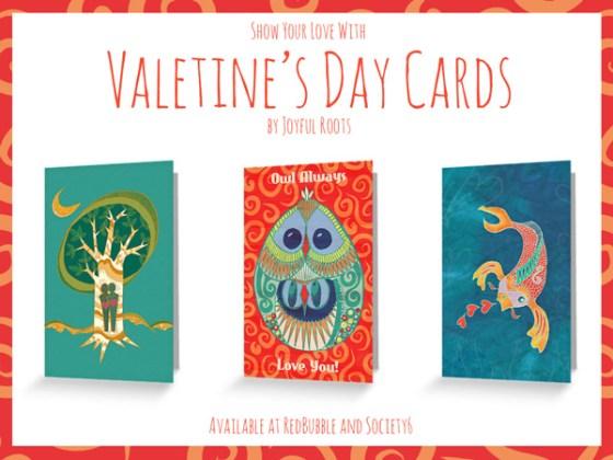 Joyful Roots Valentine's Day Cards Illustration Art
