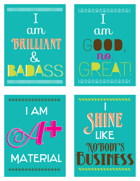 Free Printable Cards Enthusiasm Motivational Trendy Typography