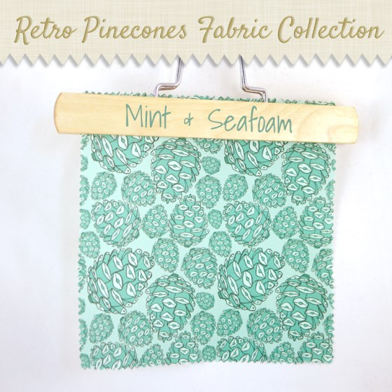 mint and seafoam fabric pinecones woodland nature spoonflower wallpaper wrapping paper